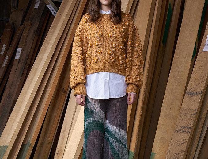 Crochet Flower Pullover