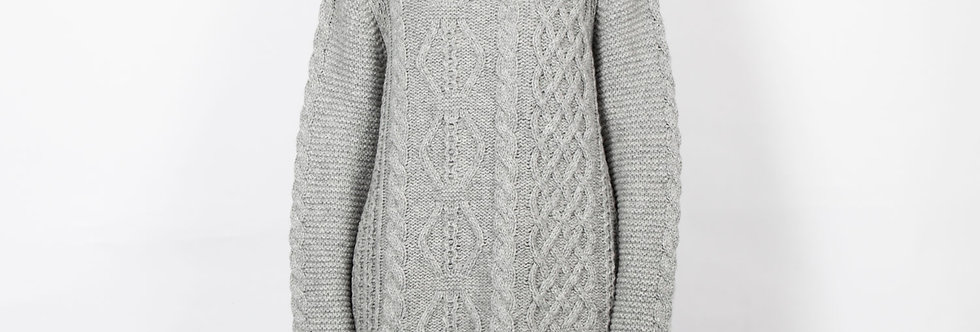 1511-14 | Mixed Cable Cozy Turtleneck