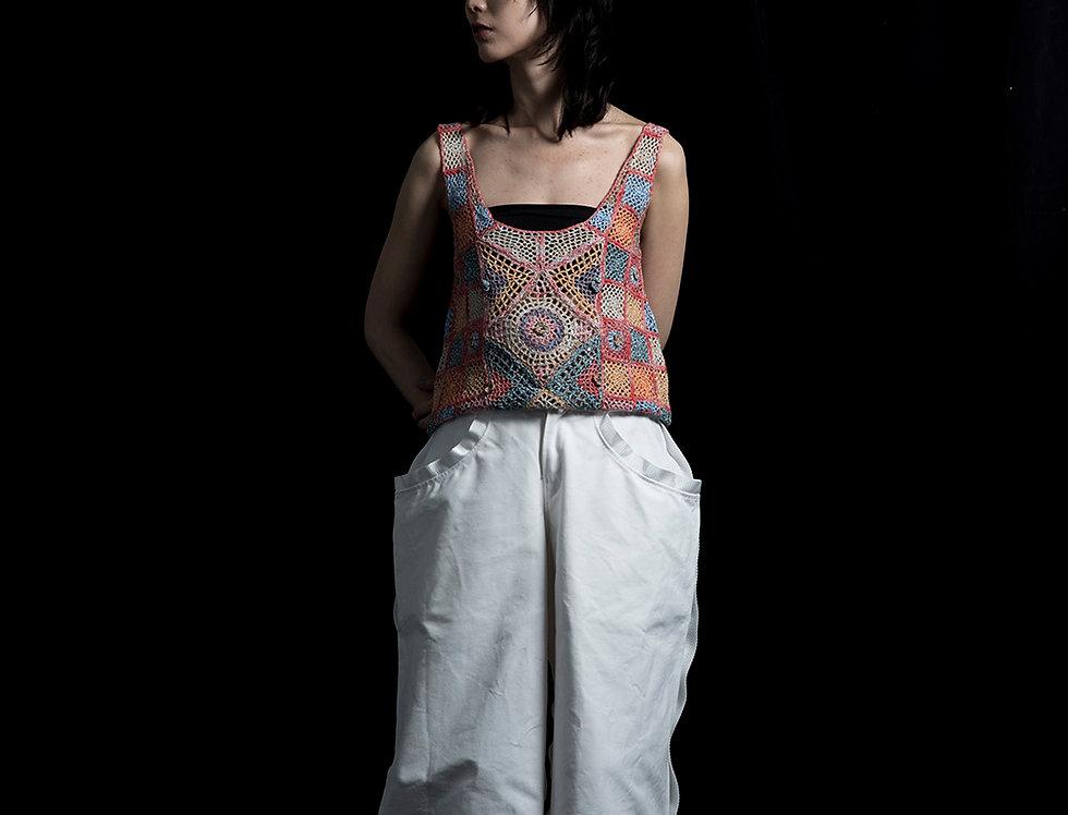 S105 | Color mix Crochet Vest