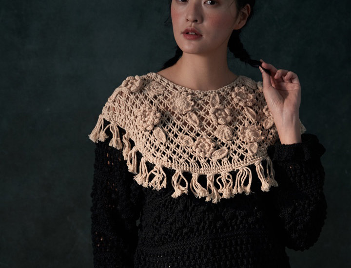 Macrame Top with Crochet Pullover
