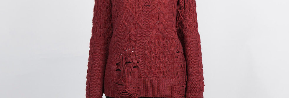 W85 | Big Drop Stitch Sweater Pullover