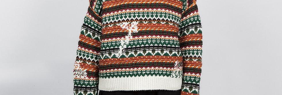 1709-09 | Glitch Jarquard Pattern Pullover