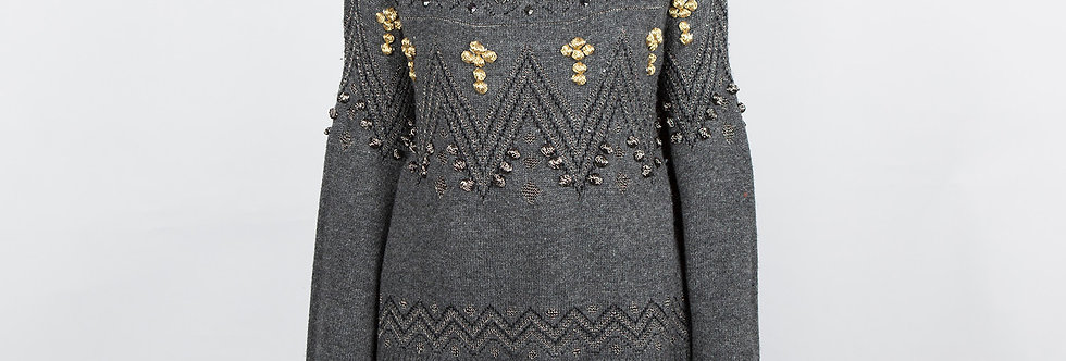 W82 | Beaded Embroidery Pullover