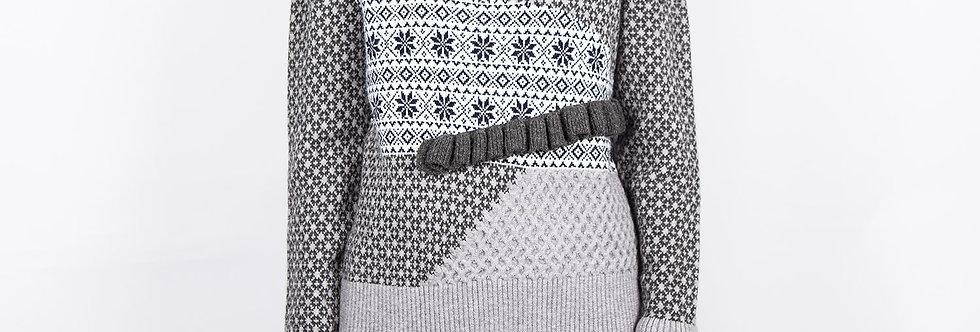 W32 | Mix Jarquard Pattern Pullover