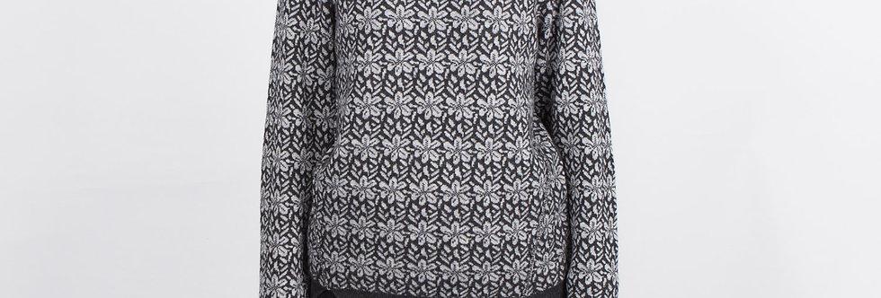 1708-38 | Merino Wool Jarquard Floral Pullover
