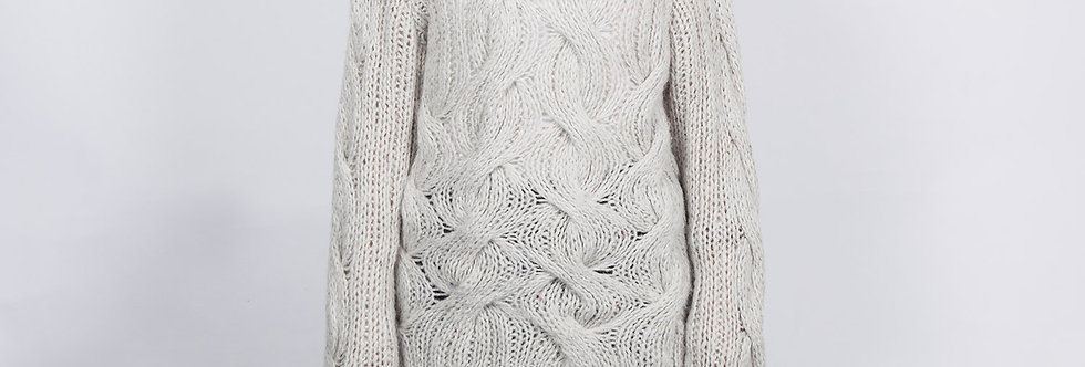 W109 | Mohair Big Cable Pullover