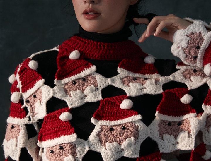 Santa Claus Crochet Pullover