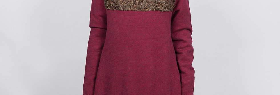 W200-A | Boucle Yarn mix Knit Pullover
