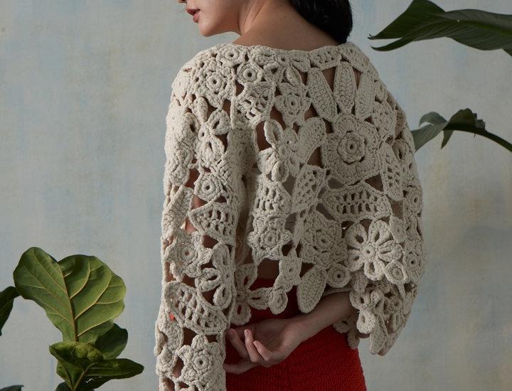 Hand Crochet flower top