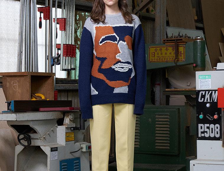 Cross Stitch Graphic Pullover