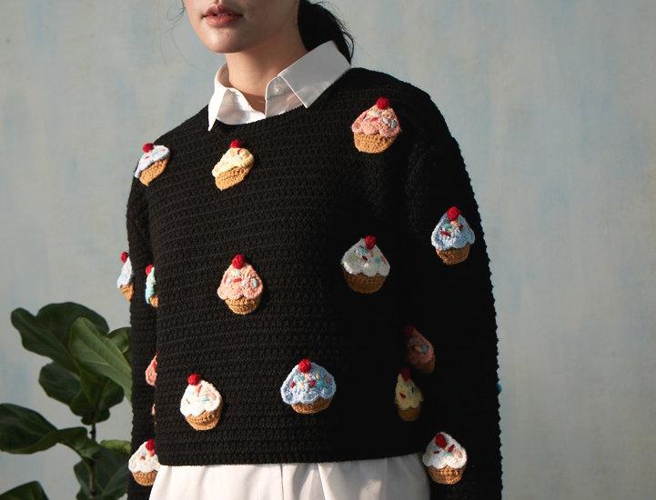Cupcake Crochet Pullover