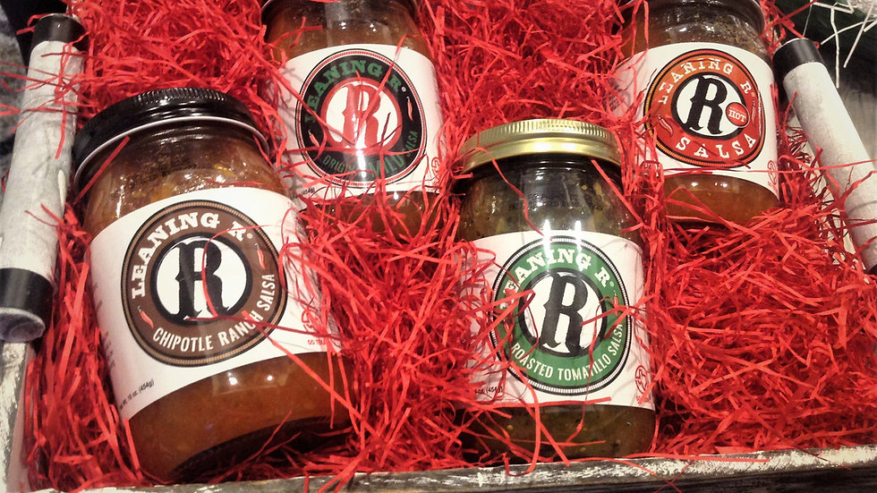 LEANING R ® Salsa Sampler Gift Basket