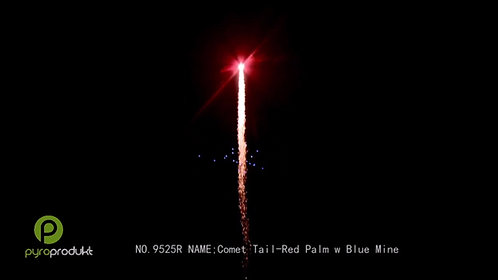 Comet Tail - Red Palm w/Blue Mine