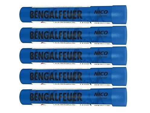 Bengalfeuerfackel blau, 5er Pack