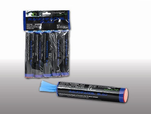 Rauchfackeln blau, 5er Pack