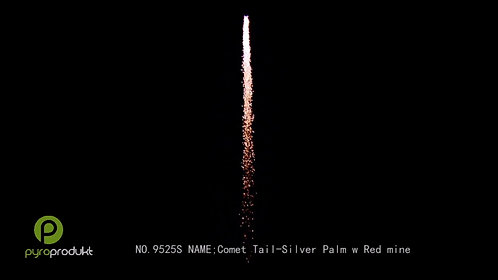 Comet Tail - Silver Palm w/Red Mine