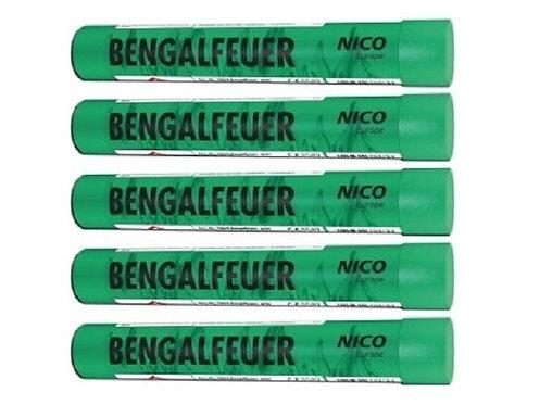 Bengalfeuerfackel grün, 5er Pack