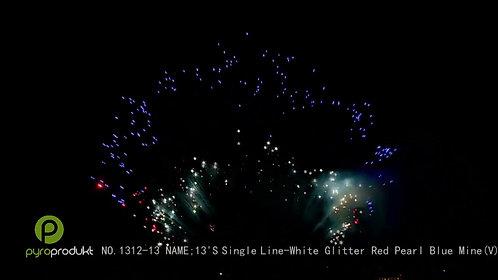 SL: 13's White Glitter Red Pearl Blue Mine