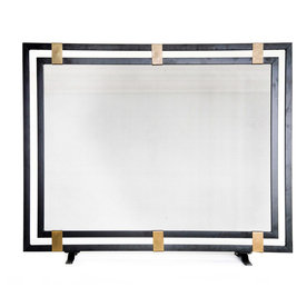 StyleSelections Fireplace Screen - Black