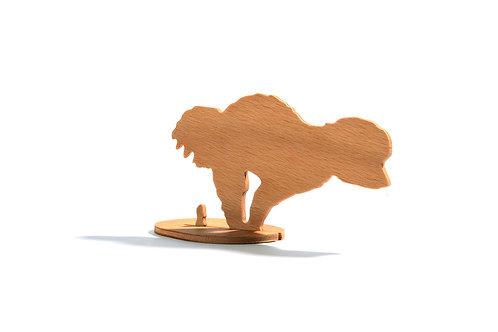 Dřevěný Sraloun Bišoník