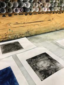 Intaglio prints in progress