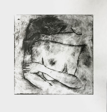 Finished Intaglio Print on Bamboo paper