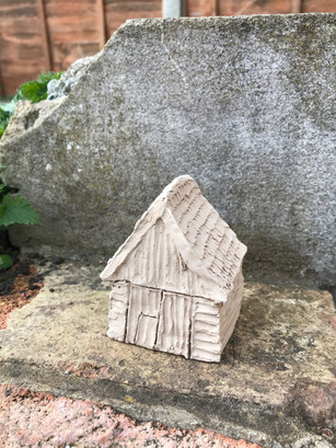 Unfired clay house