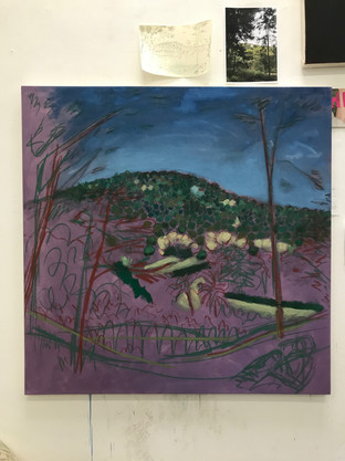 'View From Park Guell' in progress