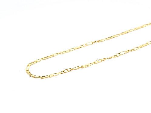 Corrente Masculina 3em1 50cm Ouro Amarelo Fattini