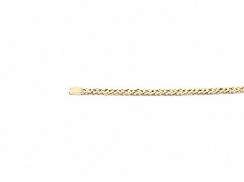 Corrente Masculina Romana Quadrada 60cm Ouro Amarelo Fattini