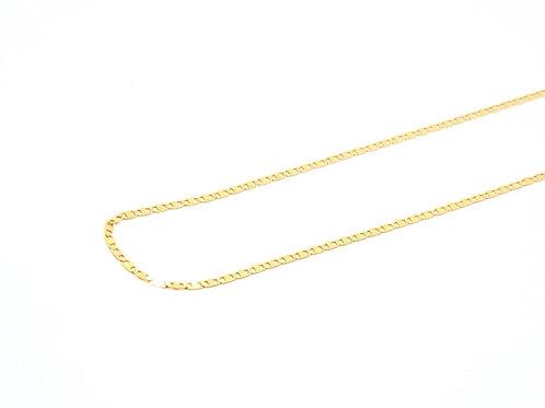 Corrente Masculina Piastrini 45cm Ouro Amarelo Fattini