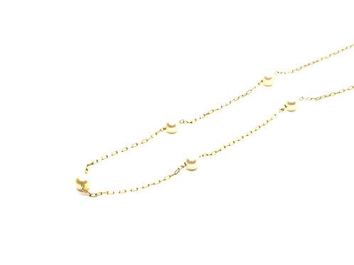 Corrente Cartier Feminina com Pérolas Ouro Amarelo Fattini