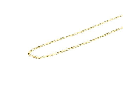 Corrente Masculina 3em1 60cm Ouro Amarelo Fattini