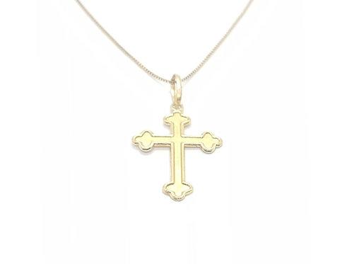 Pingente Crucifixo em Ouro Amarelo Fattini