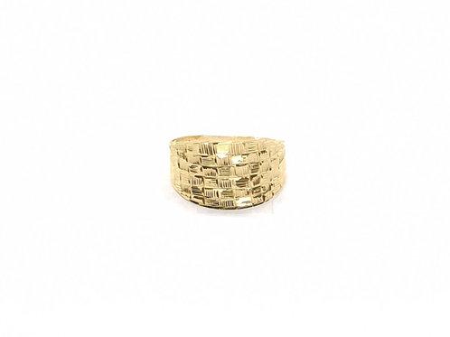 Anel em Ouro Trabalhado Amarelo Coleção Enigma Fattini