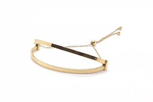 Pulseira Bracelete Regulável Feminina em Ouro Amarelo Fattini