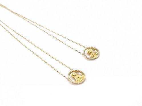 Escapulário com Brilhantes em Ouro Amarelo Cartier Coleção Fé Fattini