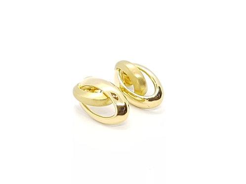 Brinco em Ouro Amarelo com Fosco Coleção Inspired Fattini