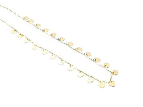 Chocker em Ouro Amarelo com Corações Coleção Amor Fattini