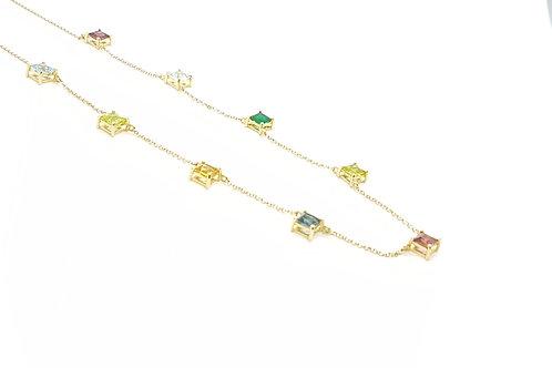 Chocker em Ouro Amarelo com Topázios Coloridos Coleção Rainbow Fattini