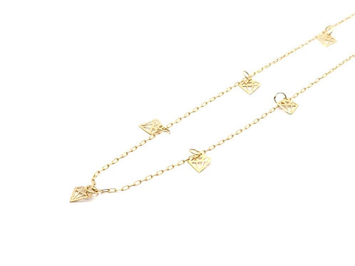 Corrente com Diamantes em Ouro Amarelo Coleção Fattini