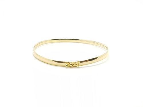 Pulseira Bracelete Feminina em Ouro Amarelo Fattini