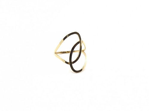 Anel em Ouro Amarelo Trabalhado Coleção Enigma Fattini
