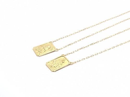 Colar Escapulário em Ouro Amarelo Cartier Coleção Fé Fattini