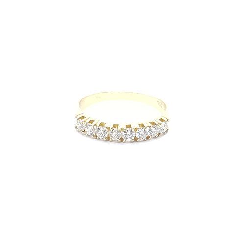 Anel Meia Aliança em Diamantes Coleção Amor Eterno Fattini
