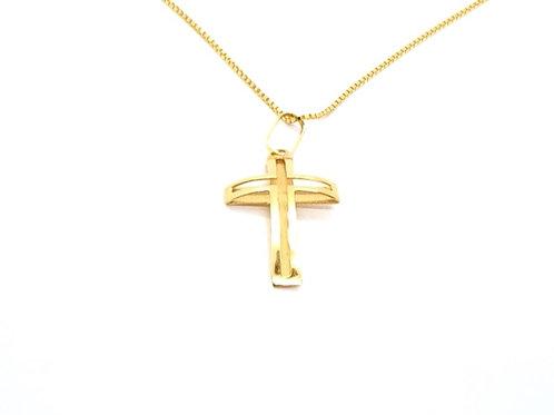 Pingente Cruz em Ouro Amarelo Fattini