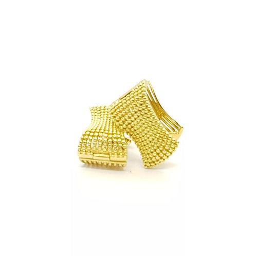 Brinco em Ouro Amarelo Trabalhado Coleção Inspired Fattini