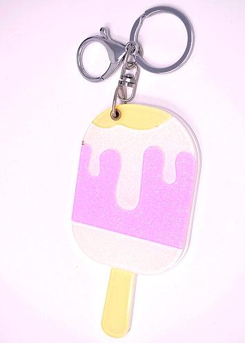 Mirror Keychain - Strawberry Popsicle