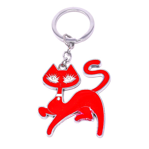 Character Keychain - Kitty Cat - Red