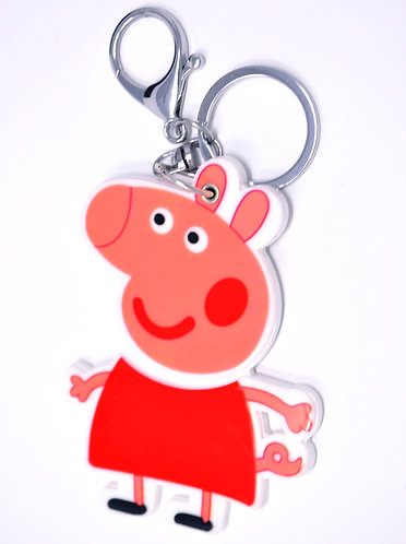 Mirror Keychain - Peppa Pig in Red Dress
